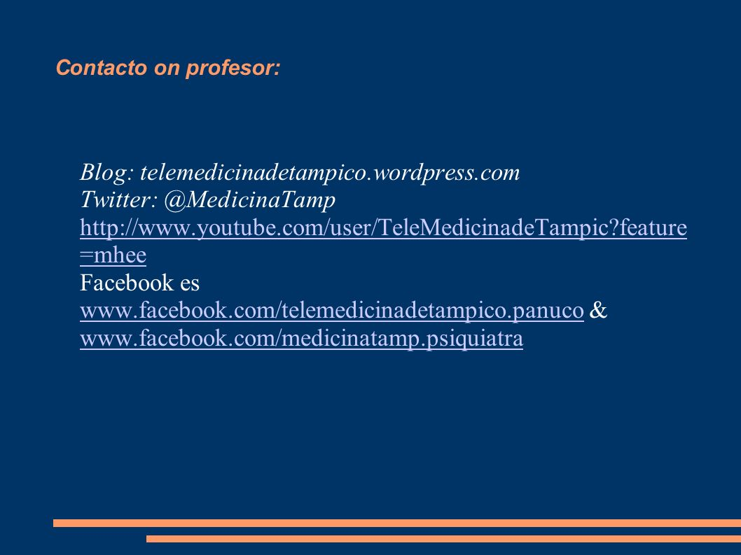 Contacto on profesor: