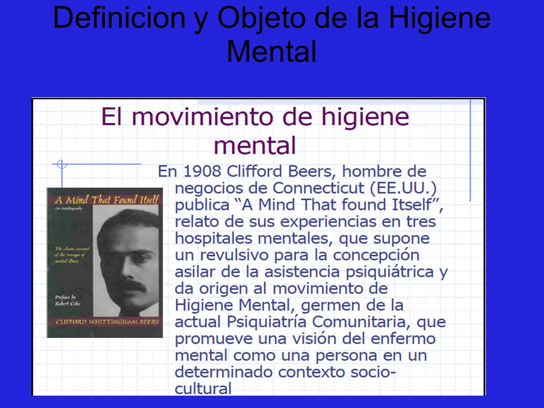 Definicion y Objeto de la Higiene Mental