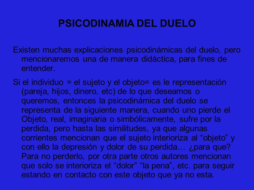 PSICODINAMIA DEL DUELO