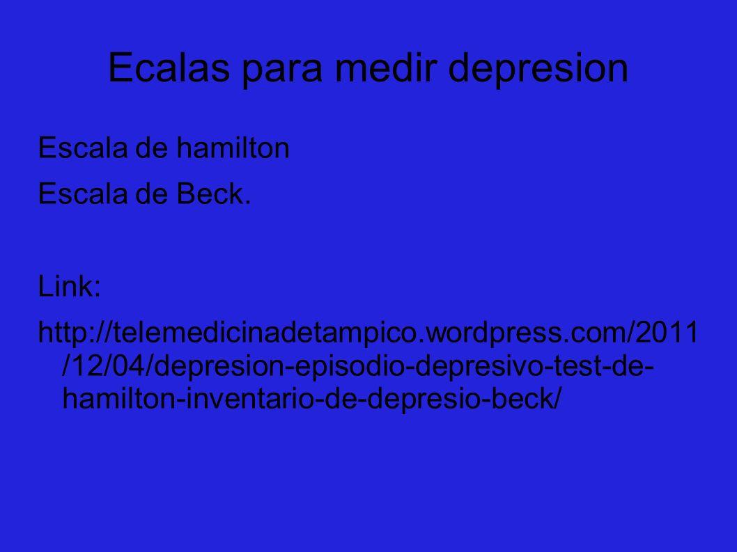 Ecalas para medir depresion