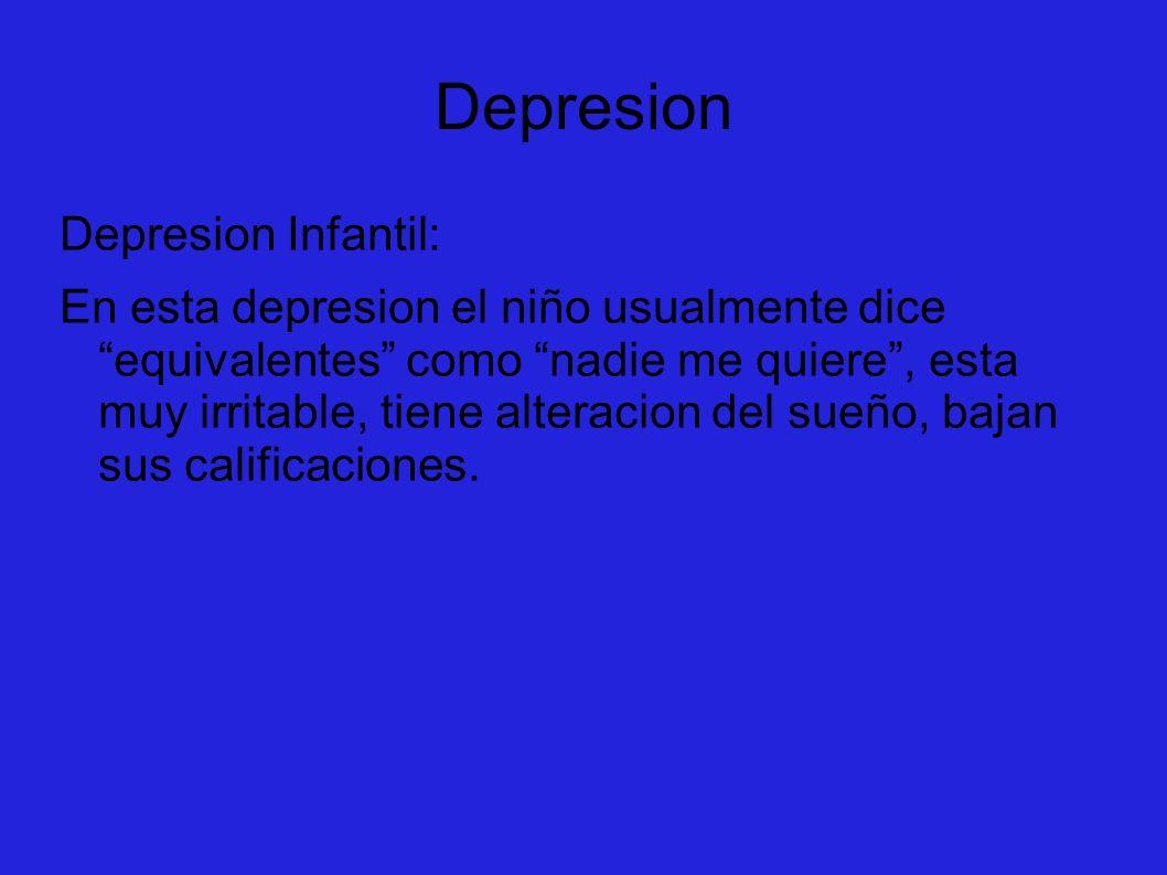 Depresion Depresion Infantil: