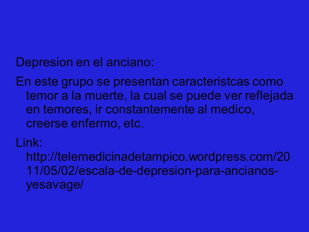 Depresion en el anciano: