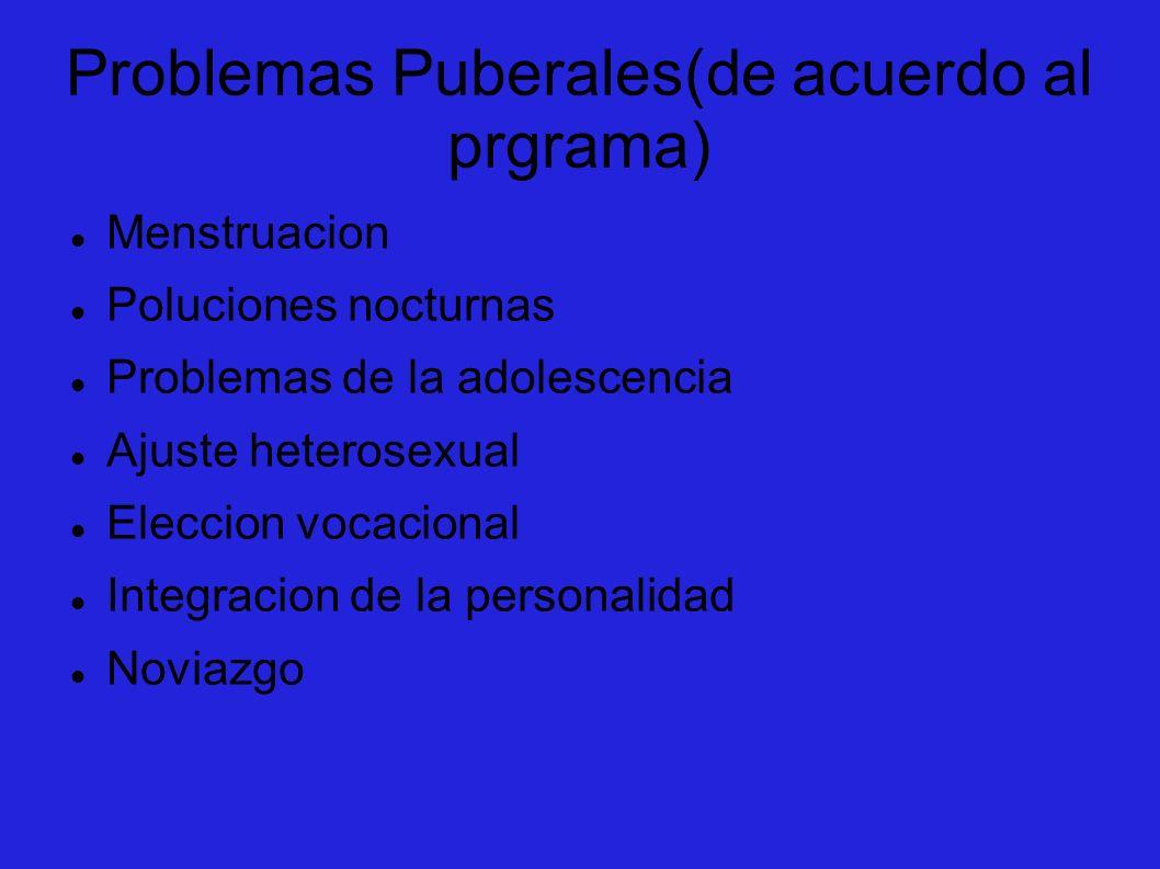 Problemas Puberales(de acuerdo al prgrama)