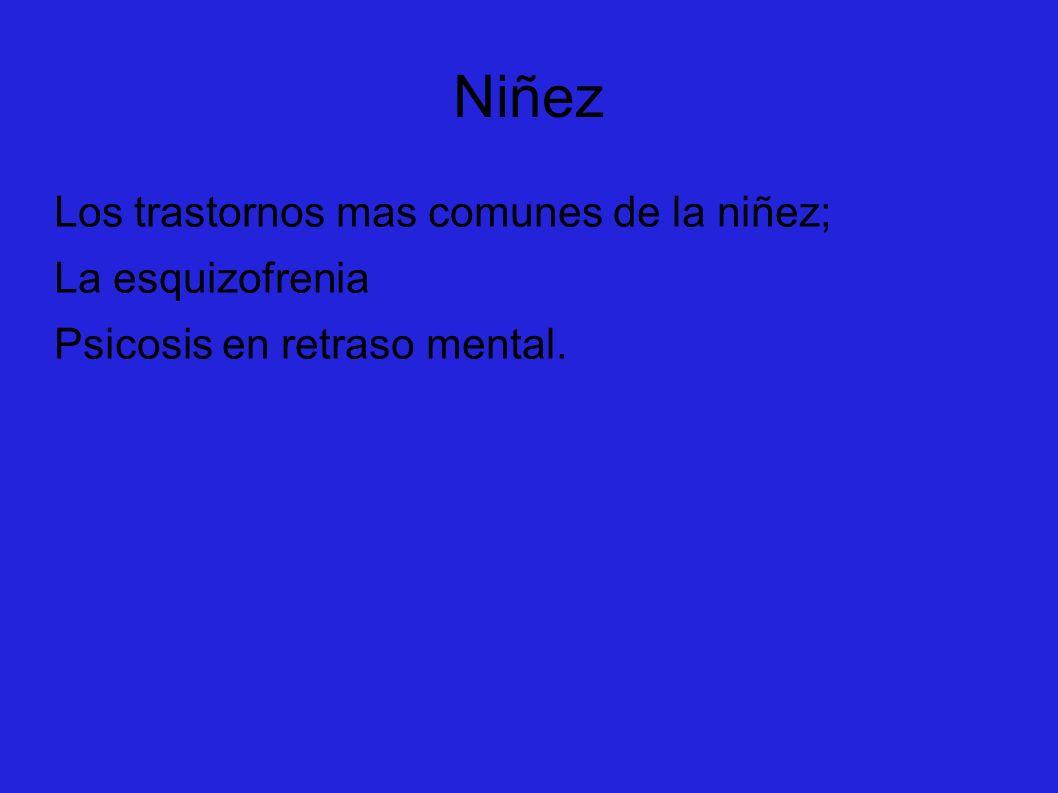 Niñez Los trastornos mas comunes de la niñez; La esquizofrenia
