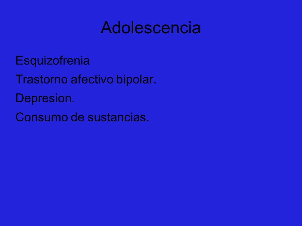 Adolescencia Esquizofrenia Trastorno afectivo bipolar. Depresion.