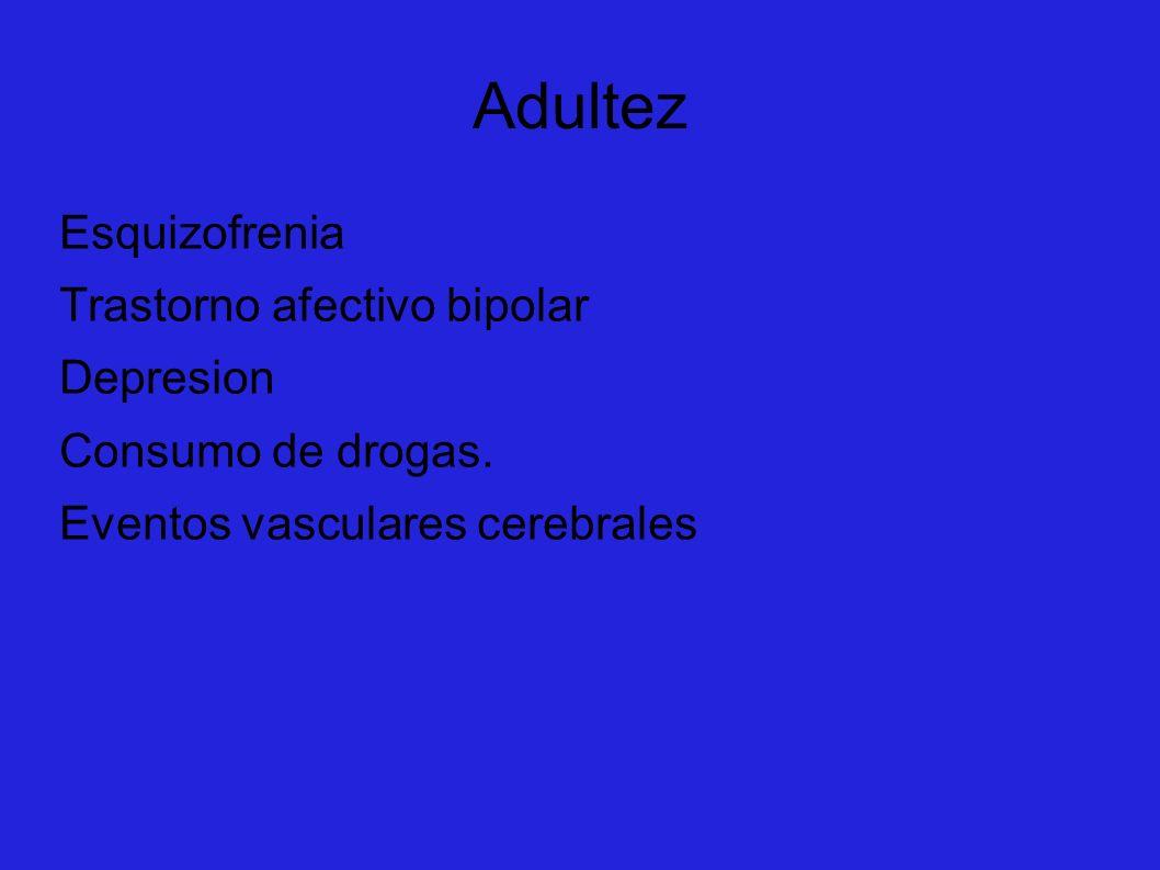 Adultez Esquizofrenia Trastorno afectivo bipolar Depresion