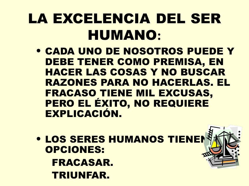LA EXCELENCIA DEL SER HUMANO: