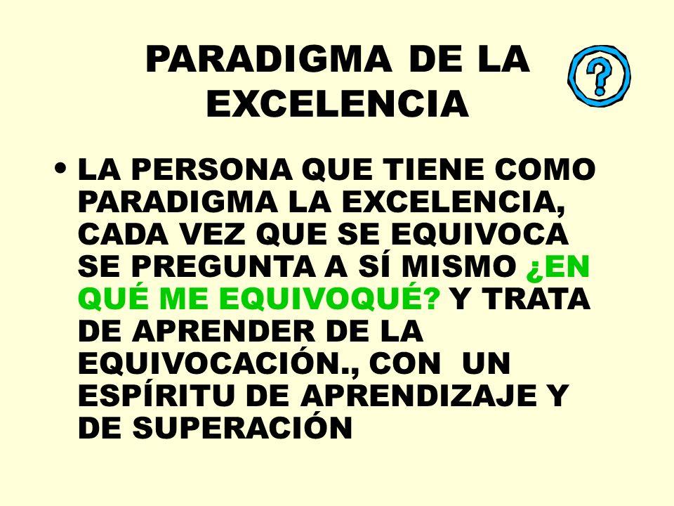 PARADIGMA DE LA EXCELENCIA