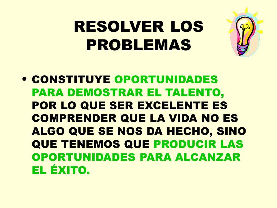 RESOLVER LOS PROBLEMAS