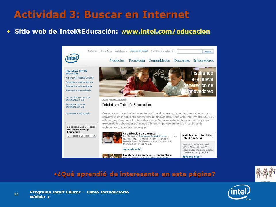 Actividad 3: Buscar en Internet