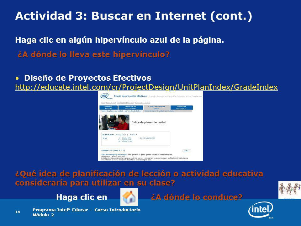 Actividad 3: Buscar en Internet (cont.)