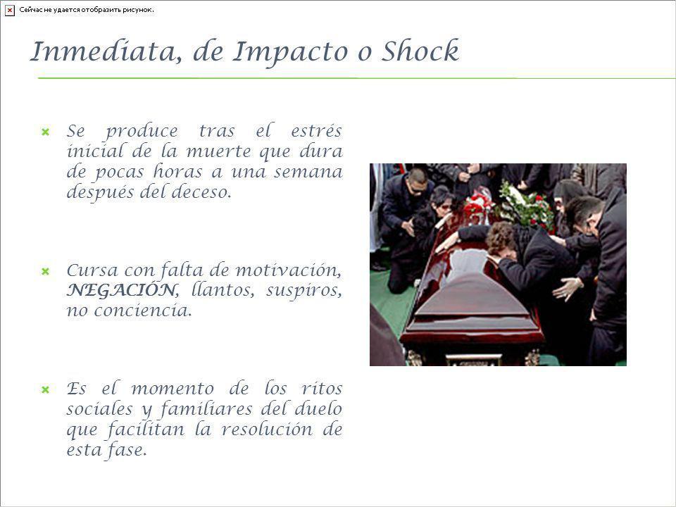 Inmediata, de Impacto o Shock