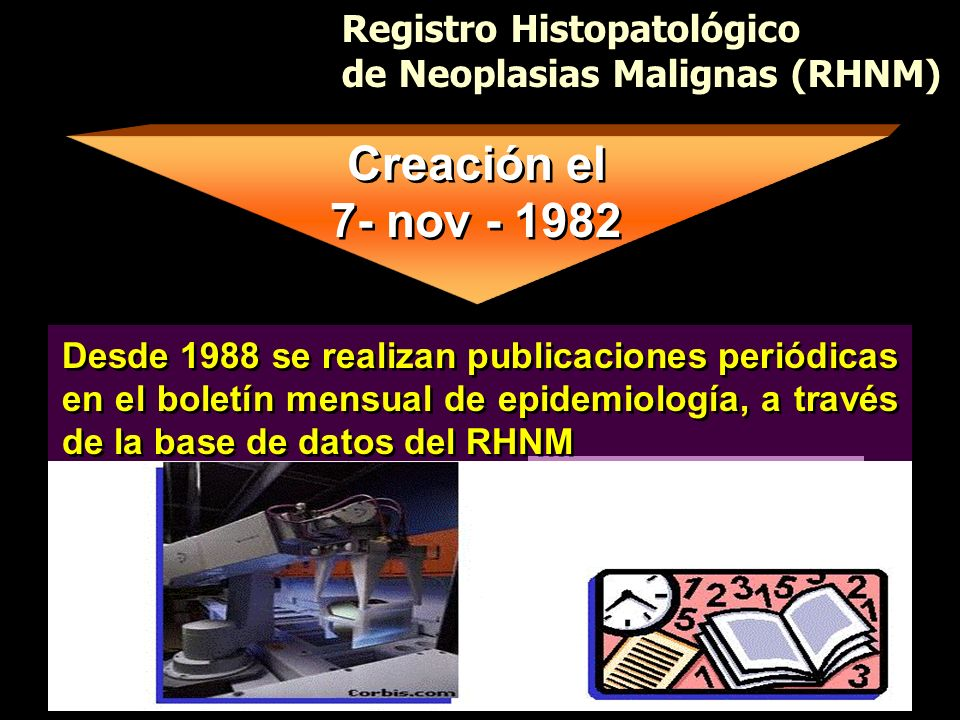 Creación el 7- nov - 1982 Registro Histopatológico