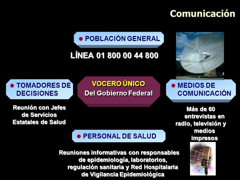 de Servicios Estatales de Salud radio, televisión y medios impresos