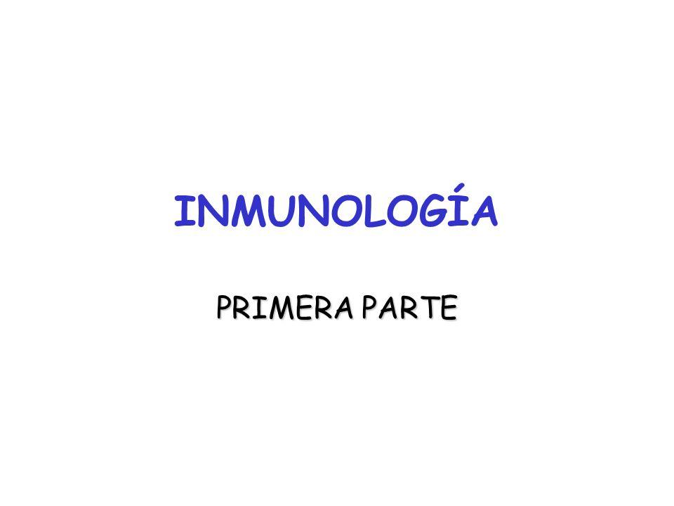INMUNOLOGÍA PRIMERA PARTE