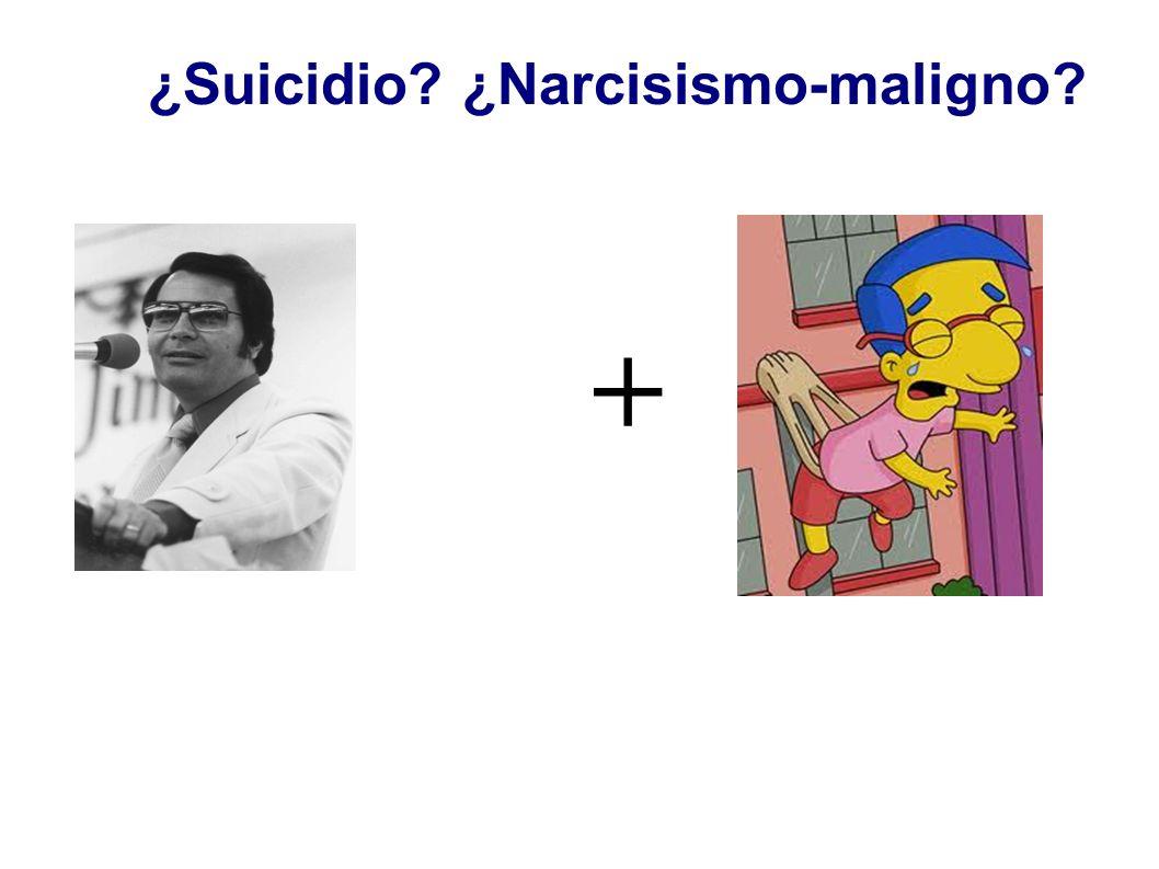 ¿Suicidio ¿Narcisismo-maligno