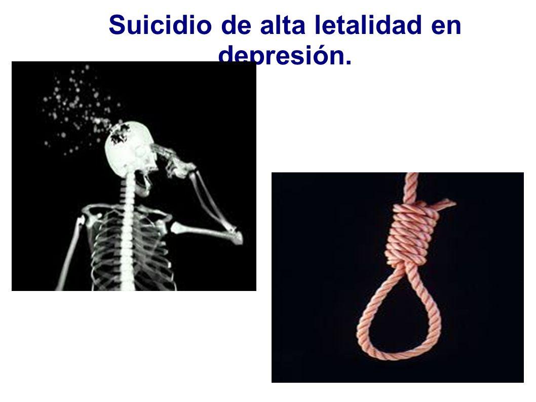 Suicidio de alta letalidad en depresión.