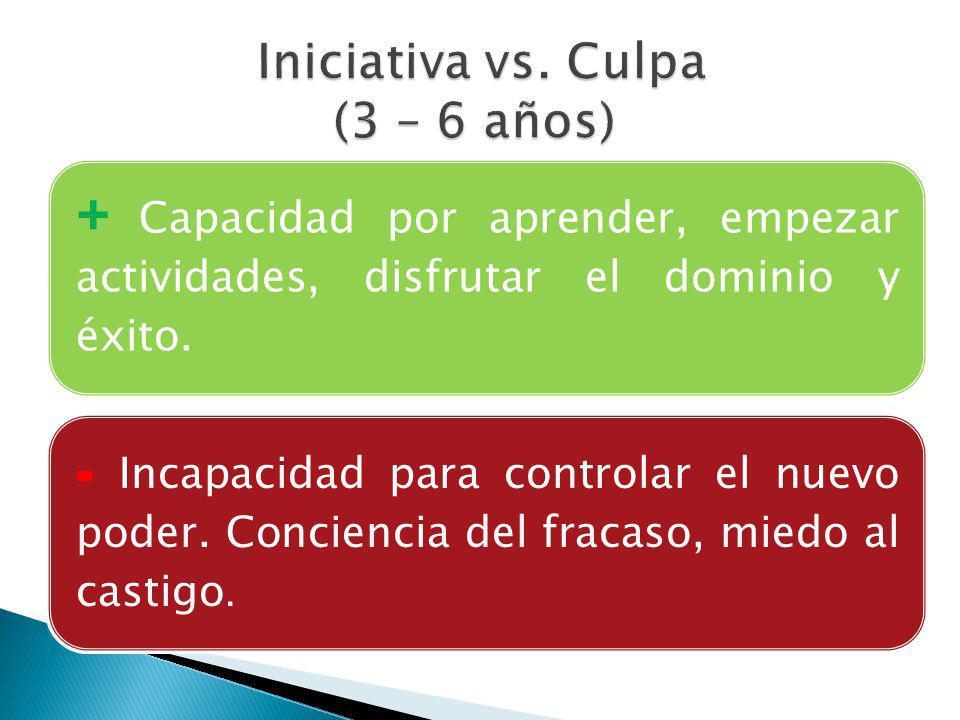 Iniciativa vs. Culpa (3 – 6 años)