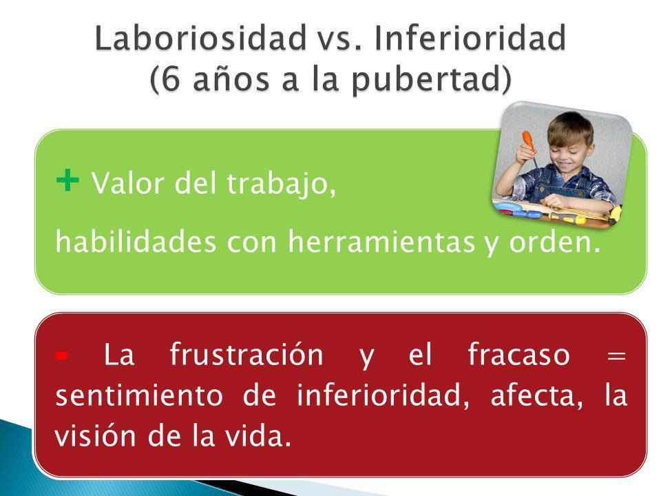 Laboriosidad vs. Inferioridad (6 años a la pubertad)