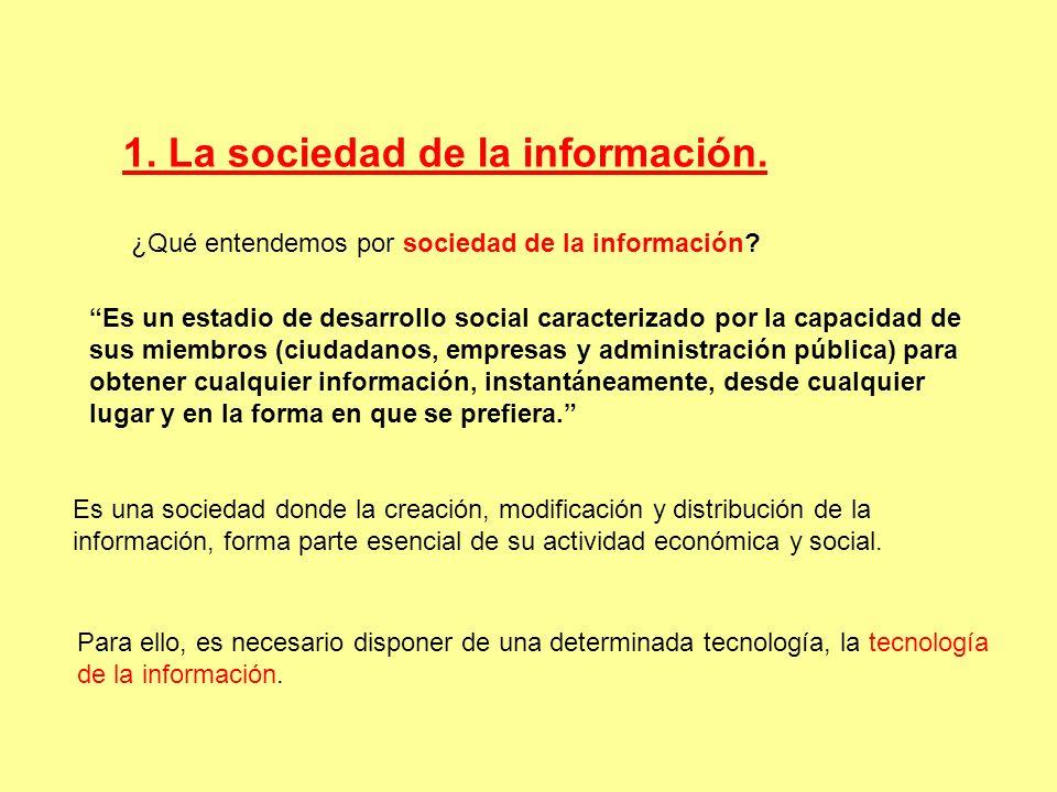 1. La sociedad de la información.