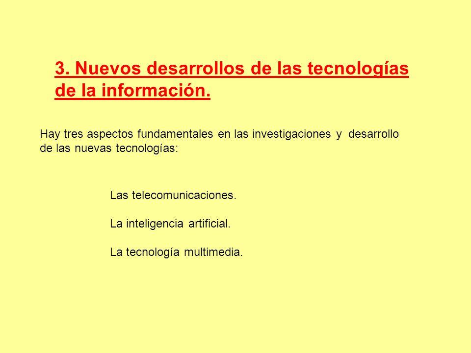 3. Nuevos desarrollos de las tecnologías de la información.