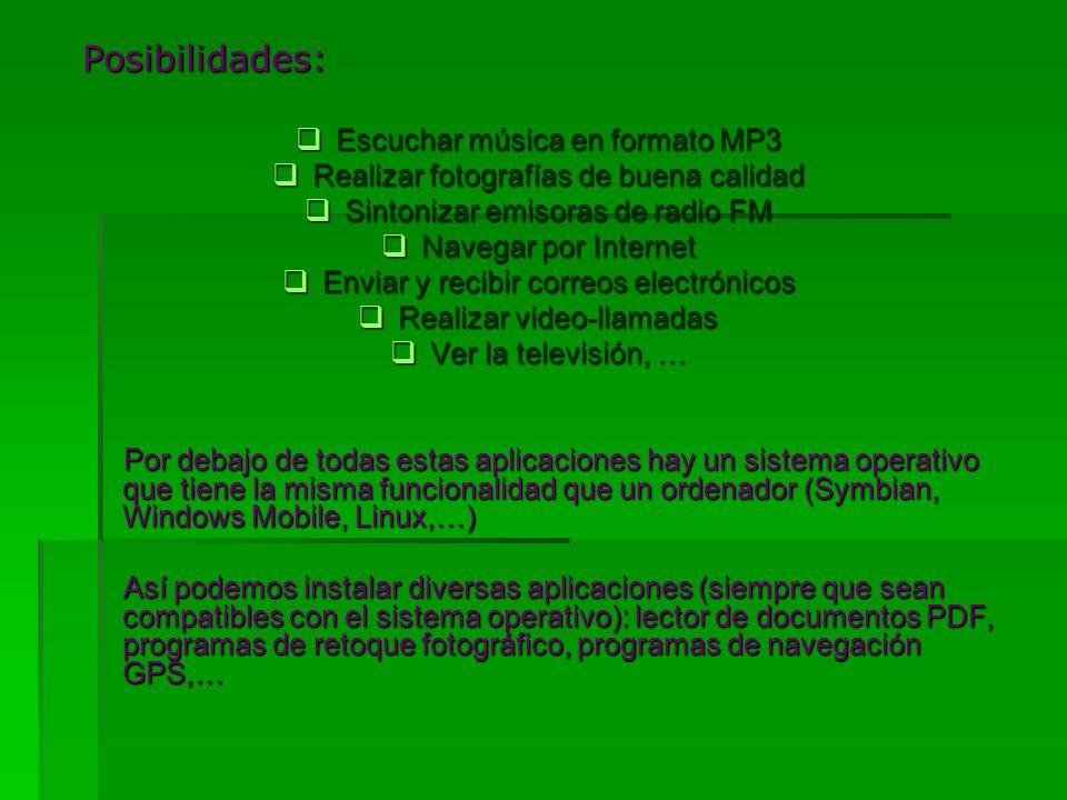 Posibilidades: Escuchar música en formato MP3