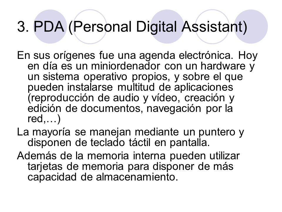 3. PDA (Personal Digital Assistant)