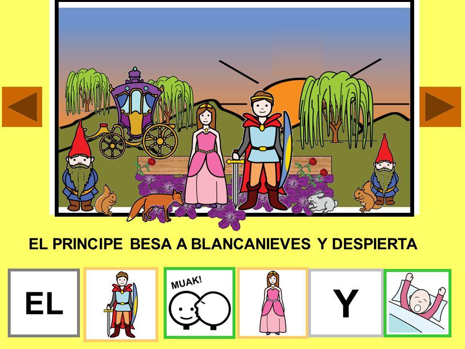 EL PRINCIPE BESA A BLANCANIEVES Y DESPIERTA