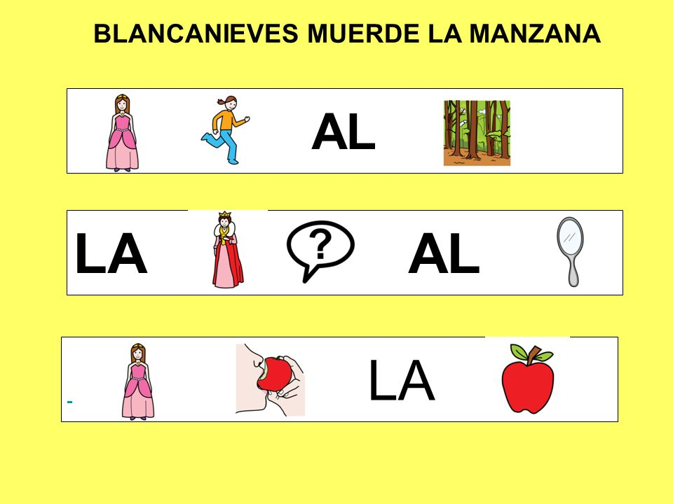 BLANCANIEVES MUERDE LA MANZANA