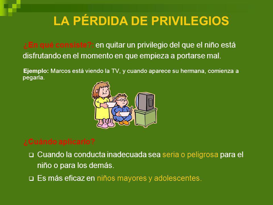 LA PÉRDIDA DE PRIVILEGIOS