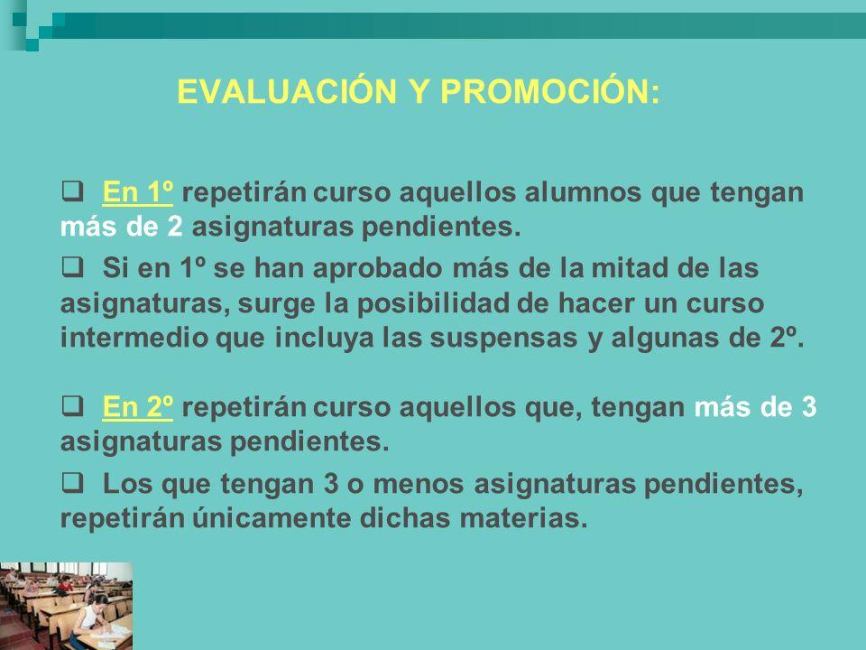 EVALUACIÓN Y PROMOCIÓN: