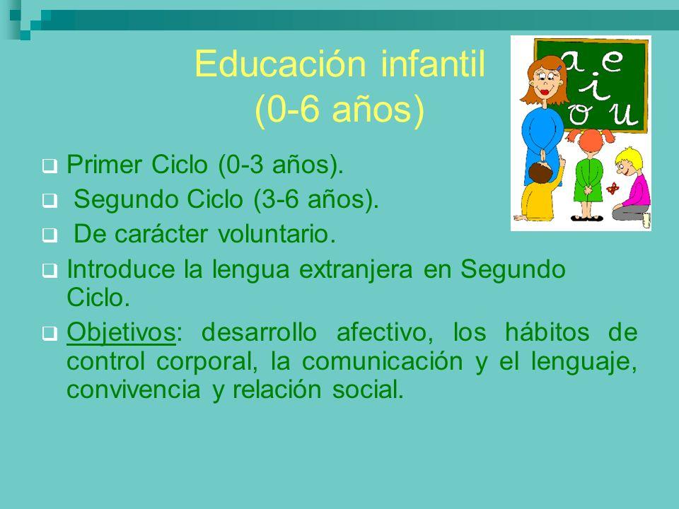 Educación infantil (0-6 años)