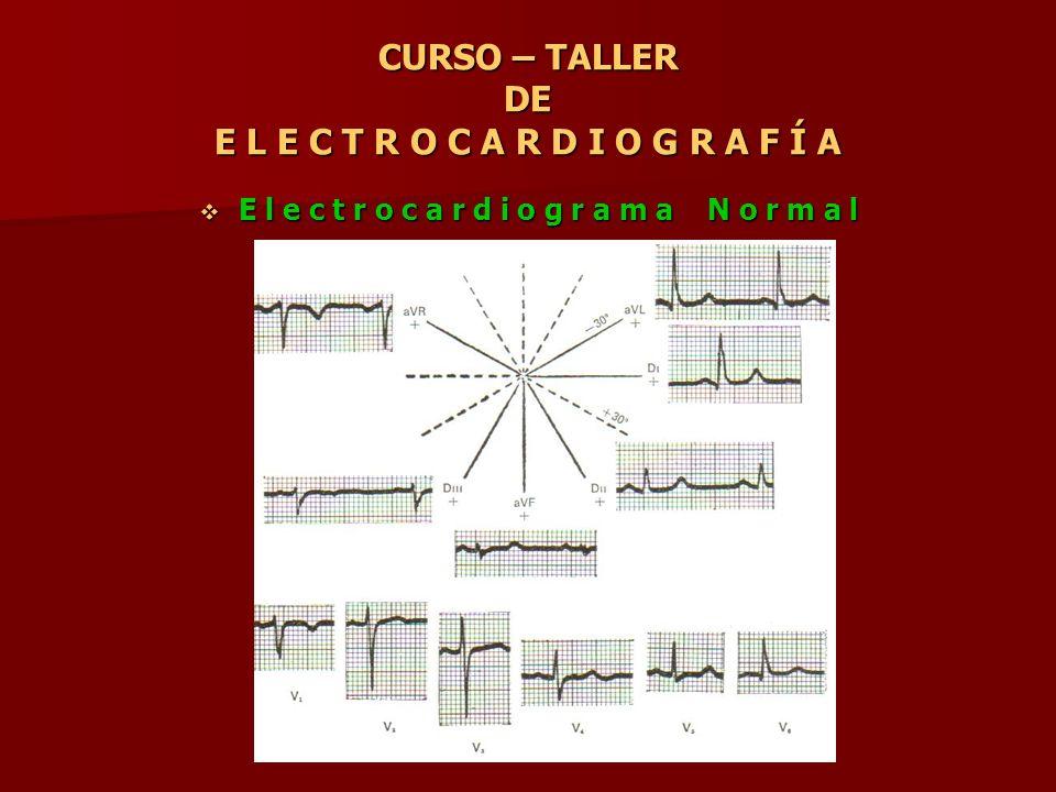 CURSO – TALLER DE E L E C T R O C A R D I O G R A F Í A