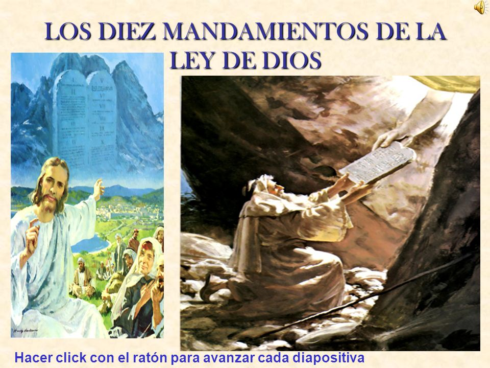 LOS DIEZ MANDAMIENTOS DE LA LEY DE DIOS