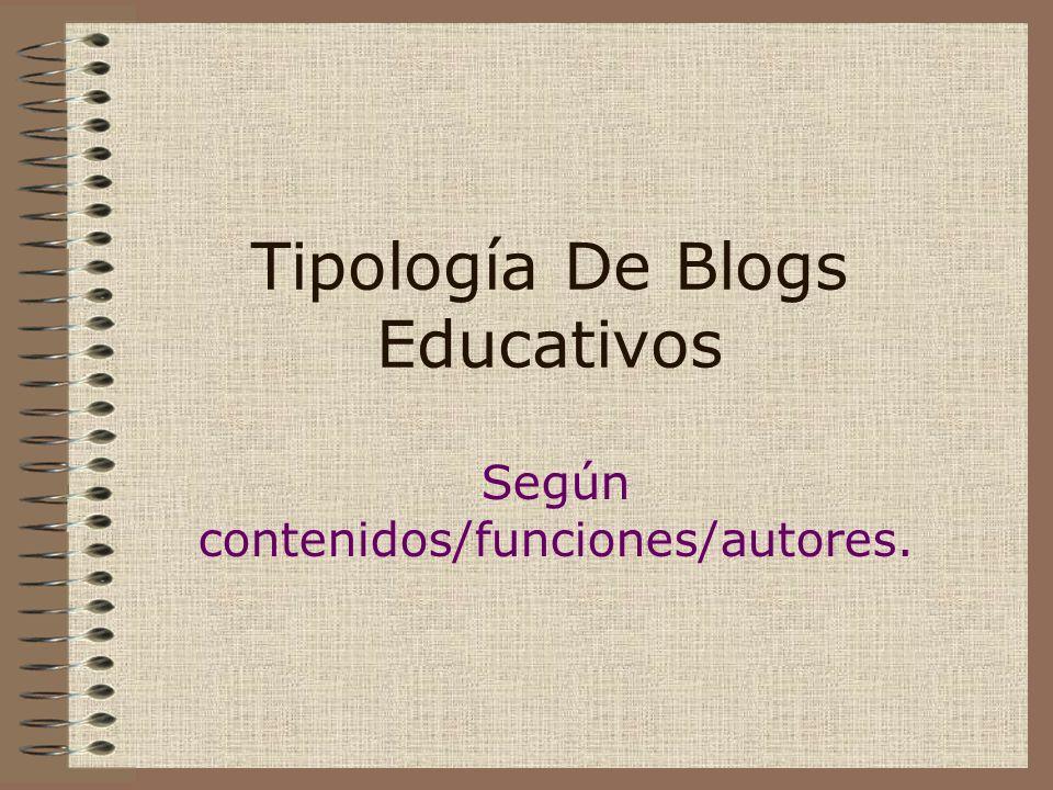 Tipología De Blogs Educativos