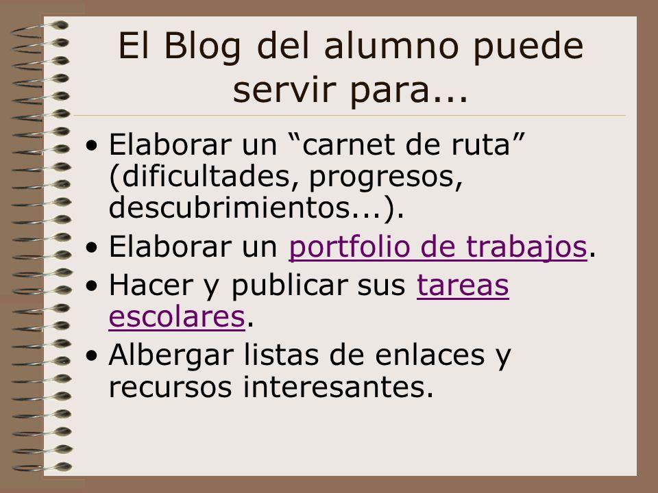 El Blog del alumno puede servir para...