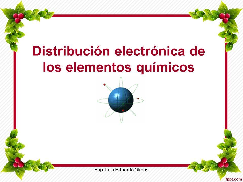 Distribución electrónica de los elementos químicos