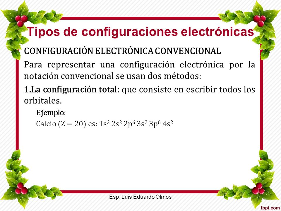 Tipos de configuraciones electrónicas