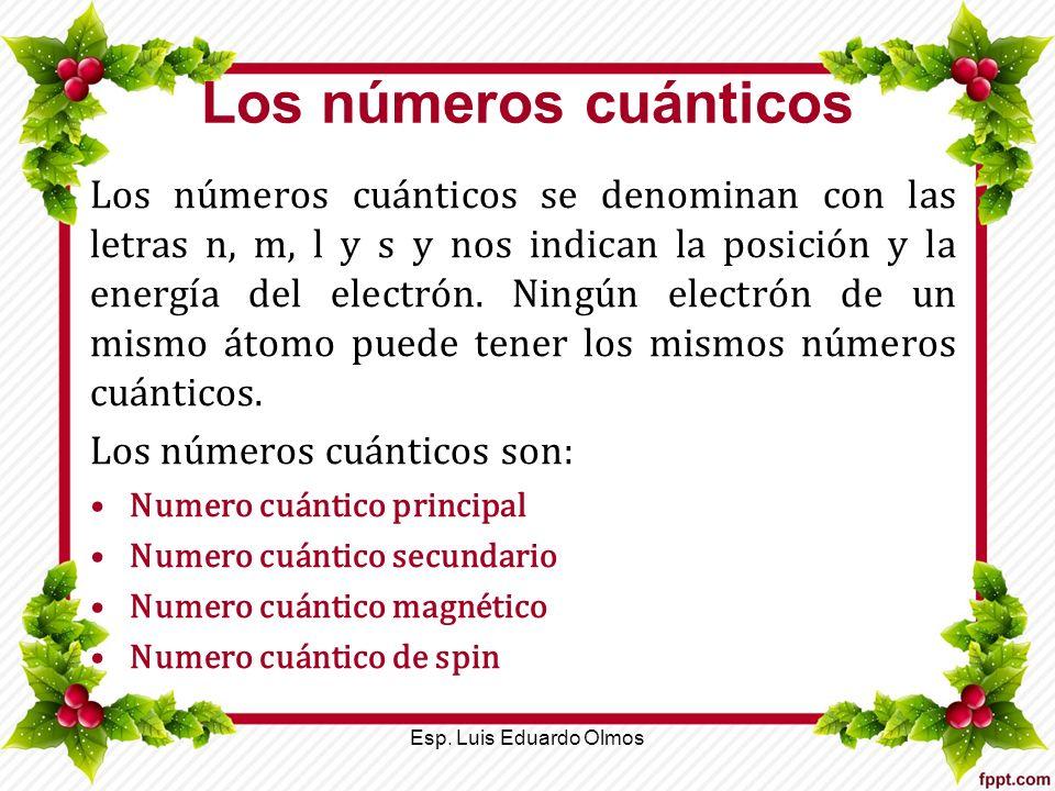 Los números cuánticos