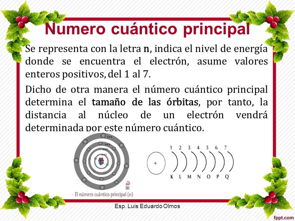 Numero cuántico principal