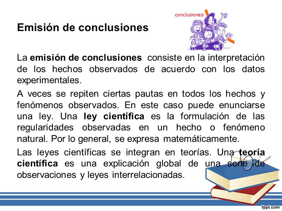 Emisión de conclusiones
