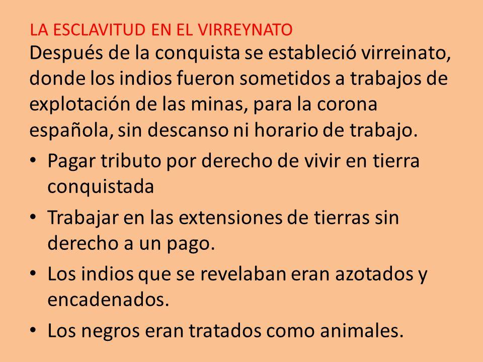 LA ESCLAVITUD EN EL VIRREYNATO