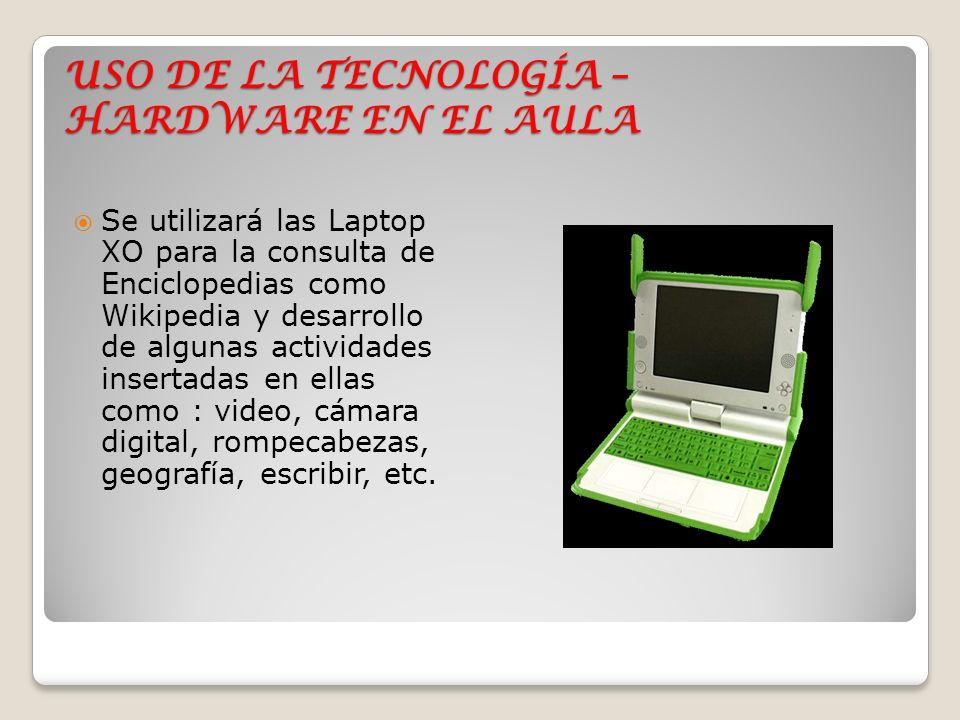 USO DE LA TECNOLOGÍA – HARDWARE EN EL AULA