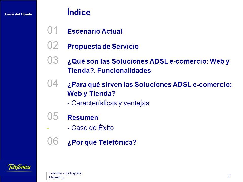 04 ¿Para qué sirven las Soluciones ADSL e-comercio: Web y Tienda