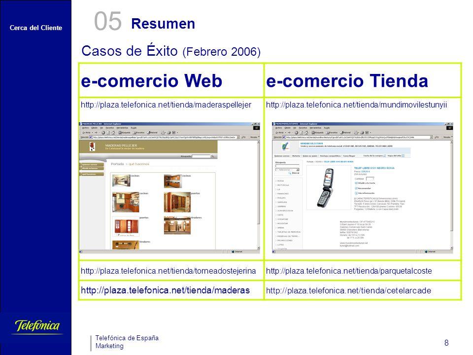 05 e-comercio Web e-comercio Tienda Resumen