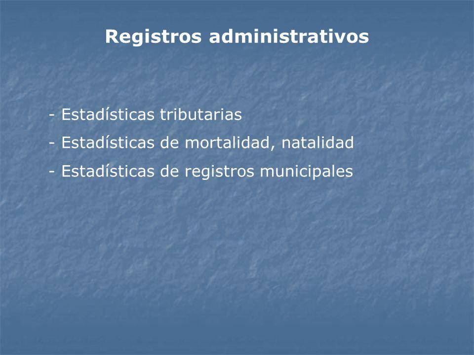 Registros administrativos