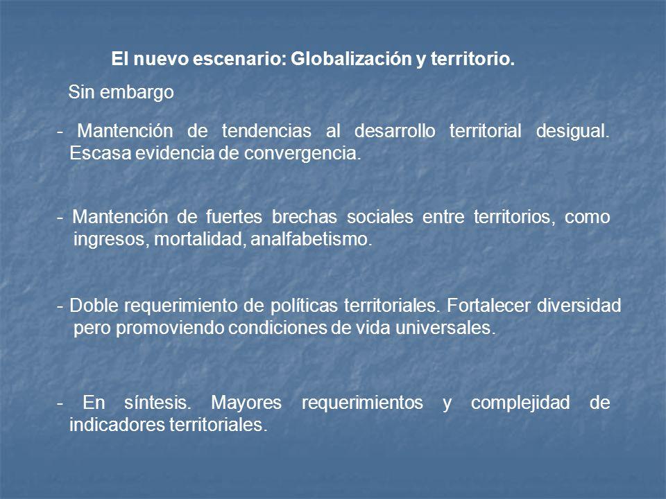El nuevo escenario: Globalización y territorio.
