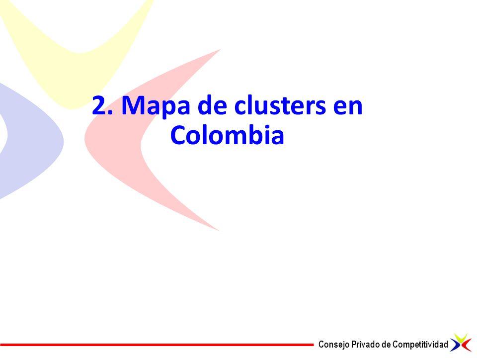 2. Mapa de clusters en Colombia