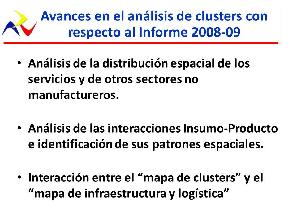 Avances en el análisis de clusters con respecto al Informe 2008-09