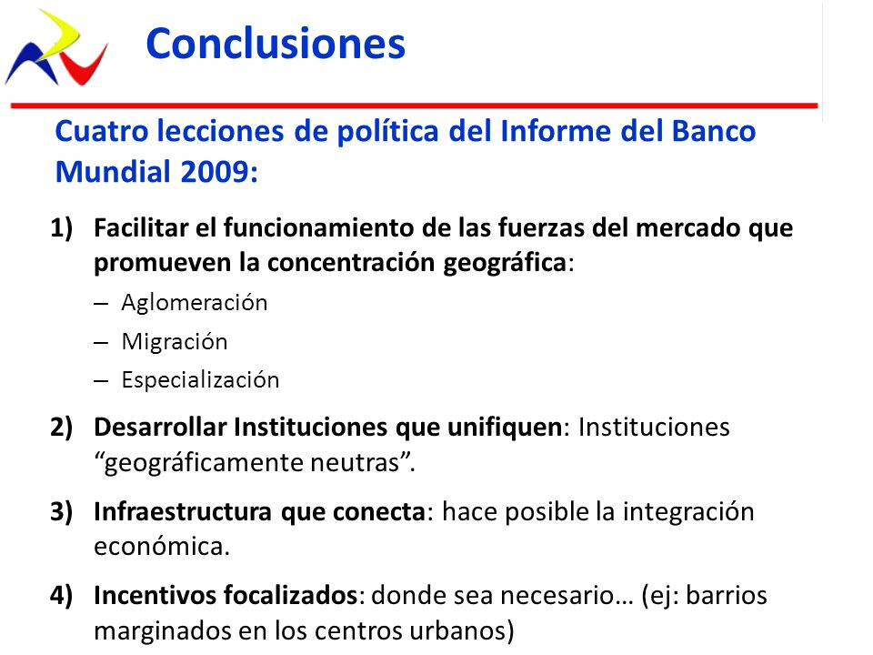 ConclusionesCuatro lecciones de política del Informe del Banco Mundial 2009: